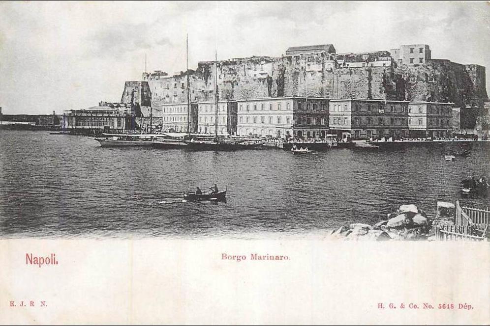Ancienne carte ville de Naples